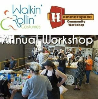 Next weekend (July24th-25th) HammerSpace will be hosting the annual Walkin' & Rollin' wheelchair costume build event for its volunteers so they can make some amazing wheelchair costumes in our makerspace for some amazing kids. 🦸🏽♂️👩🎨 Check out @walkinrollin to learn more about what they are all about. . .   @hammerspaceworkshop @walkinrollin #makerspace #kccosplay #kansascitymakers #hammerspace #hammerspacekc #kansascity #youngmakers #walkin&rollin #costumebuild #cosplaykc @officialnationofmakers @planetcomiconofficial