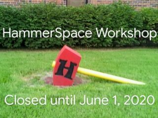 Re-opening Update: After much consideration plus the feedback we recieved from our recent member poll, Our KC makerspace has decided to wait until at least June 1st to re-open, giving us time to observe and learn from local businesses who choose to re-open on May 15th.  We strongly believe that the extra two week delay and observation period will result in a much smoother, safer June re-opening date for our maker members. We predict a lot of trial & error & trial again in our city over the next 2 weeks or so.  As always, if you are a current HammerSpace member who needs some simple work done for a project such as cutting down lumber, etc, we will happily do that work for you at no extra charge if you want to call us to schedule a time to drop off your materials with instructions.  Our in-house custom fabrication department is still taking orders via our website with curbside pickup: hammerspacehobby.com/forge  If you have any questions or concerns, please do not hesitate to give us a call: 913-686-6562. Otherwise, good luck, stay safe, and we hope to see you all next month, pandemic permitting. 🛠️ . .  #hammerspacekc #makerspace #hackerspace #communityspace #diykansascity #kansascity #kcmo #kansascitymakers @hammerspaceworkshop